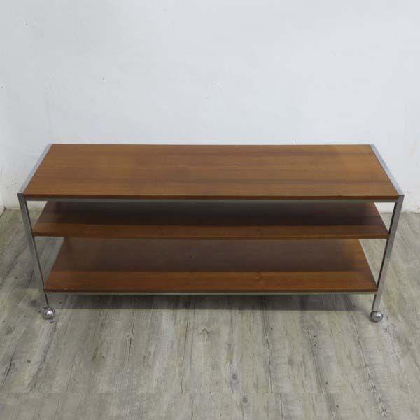gro er vintage tv tisch auf rollen 1950er bei pamono kaufen. Black Bedroom Furniture Sets. Home Design Ideas