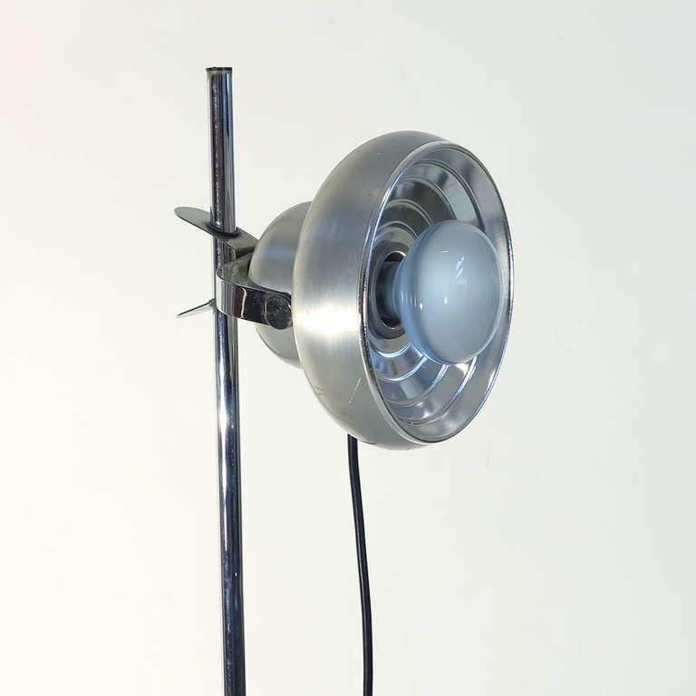 verstellbare chrom stehlampe von kaiser leuchten 1960er. Black Bedroom Furniture Sets. Home Design Ideas