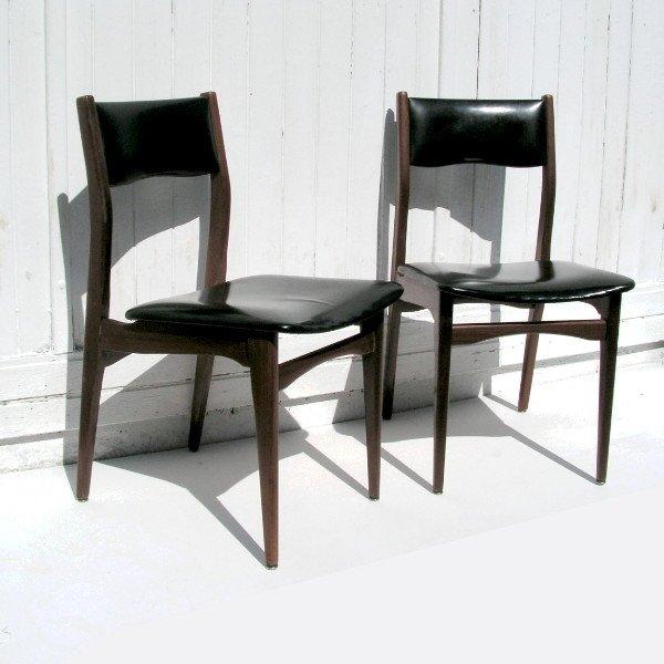 skandinavische vintage st hle 1950er 2er set bei pamono. Black Bedroom Furniture Sets. Home Design Ideas