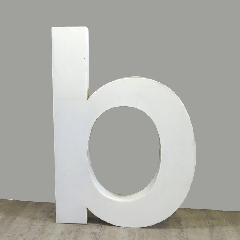 Large vintage letter b wall decor 1970s for sale at pamono for Large letter k wall decor