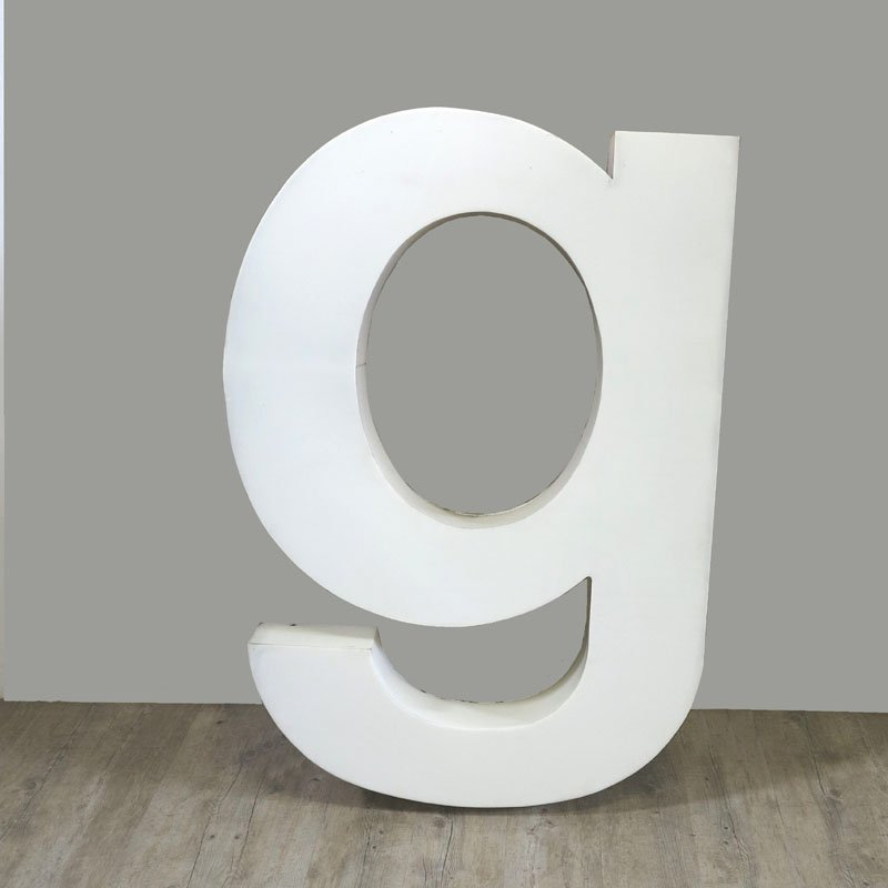 Large vintage letter g wall decor 1970s for sale at pamono for Large letter k wall decor