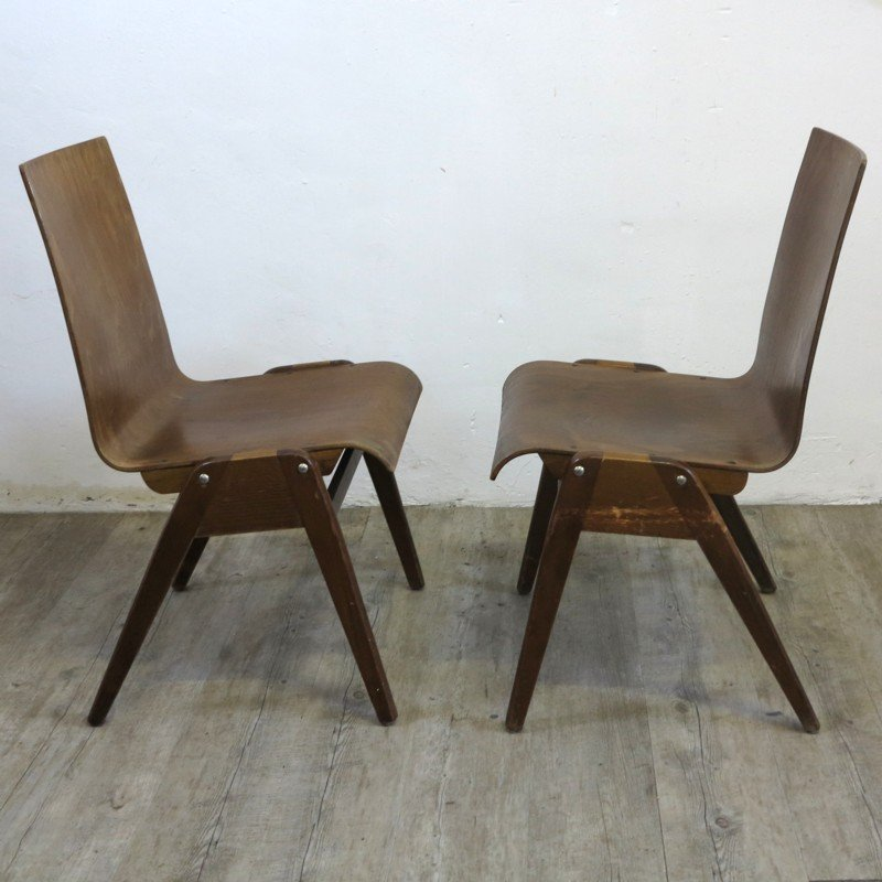 Industrial design stacking chairs 1930s set of 2 for for Industrial design chair