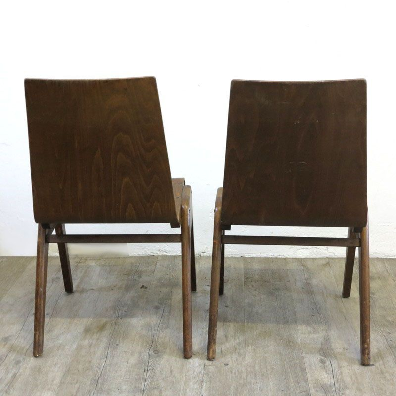 Industrial Design Stacking Chairs 1930s Set of 2 for sale at Pamono
