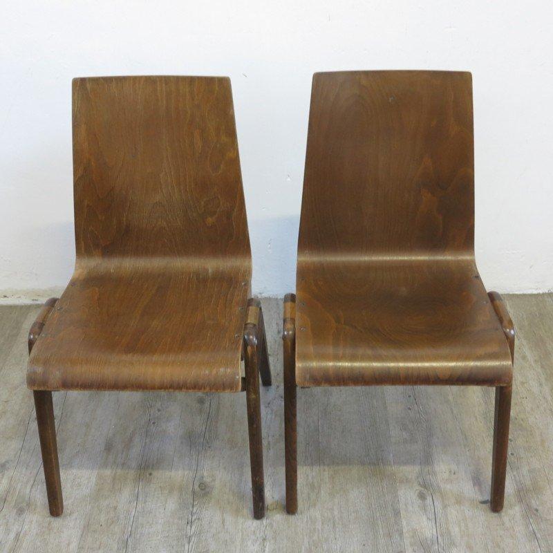 Chaises empilables design industrielles 1930s set de 2 - Chaises empilables design ...