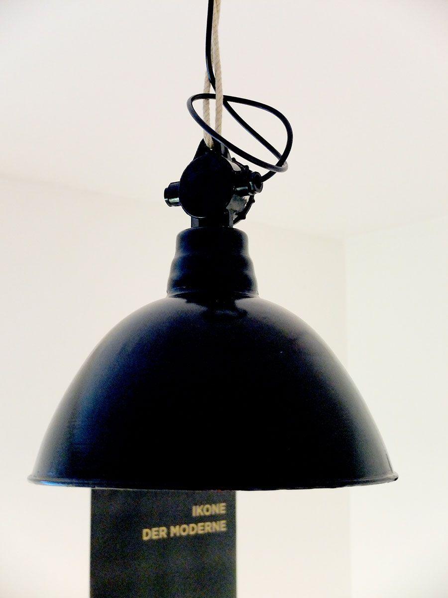 Schwarze Industrielampe bei Pamono kaufen