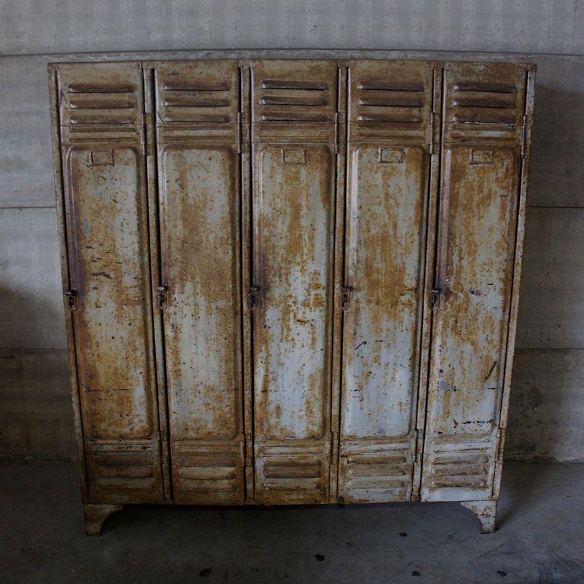 Vintage Industrial Fire Doors For Sale : Vintage industrial door locker s for sale at pamono