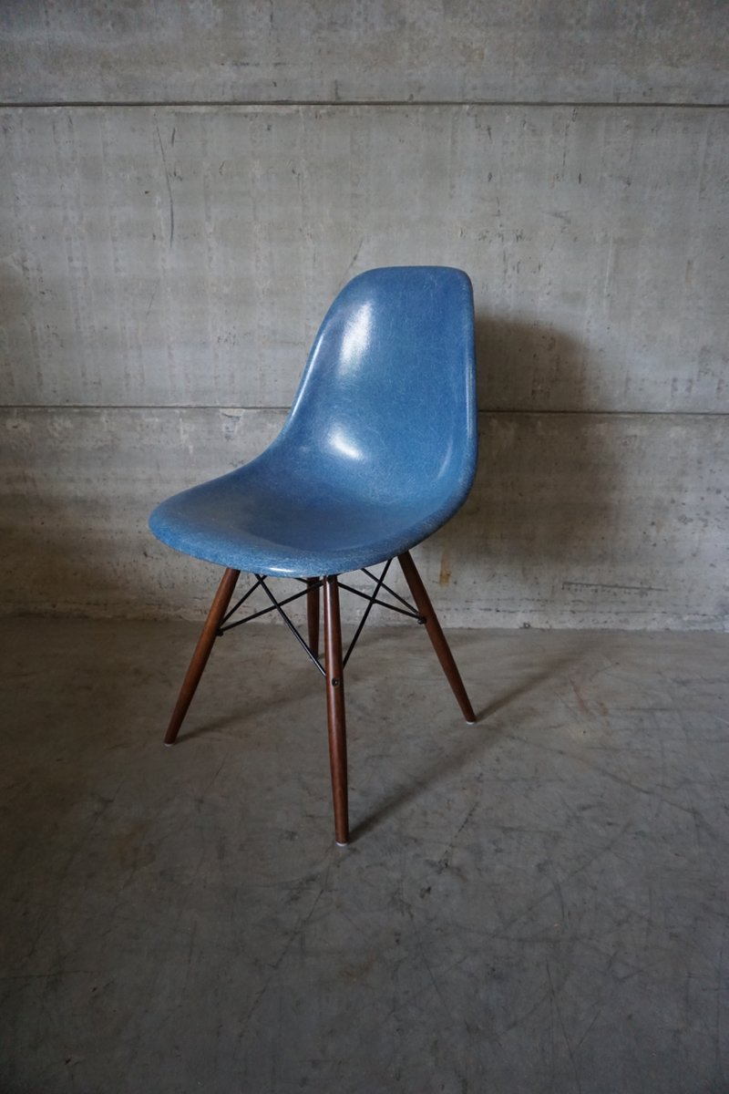 Blue dsw chair by charles ray eames 1950s for sale at pamono - Chaise dsw charles eames ...