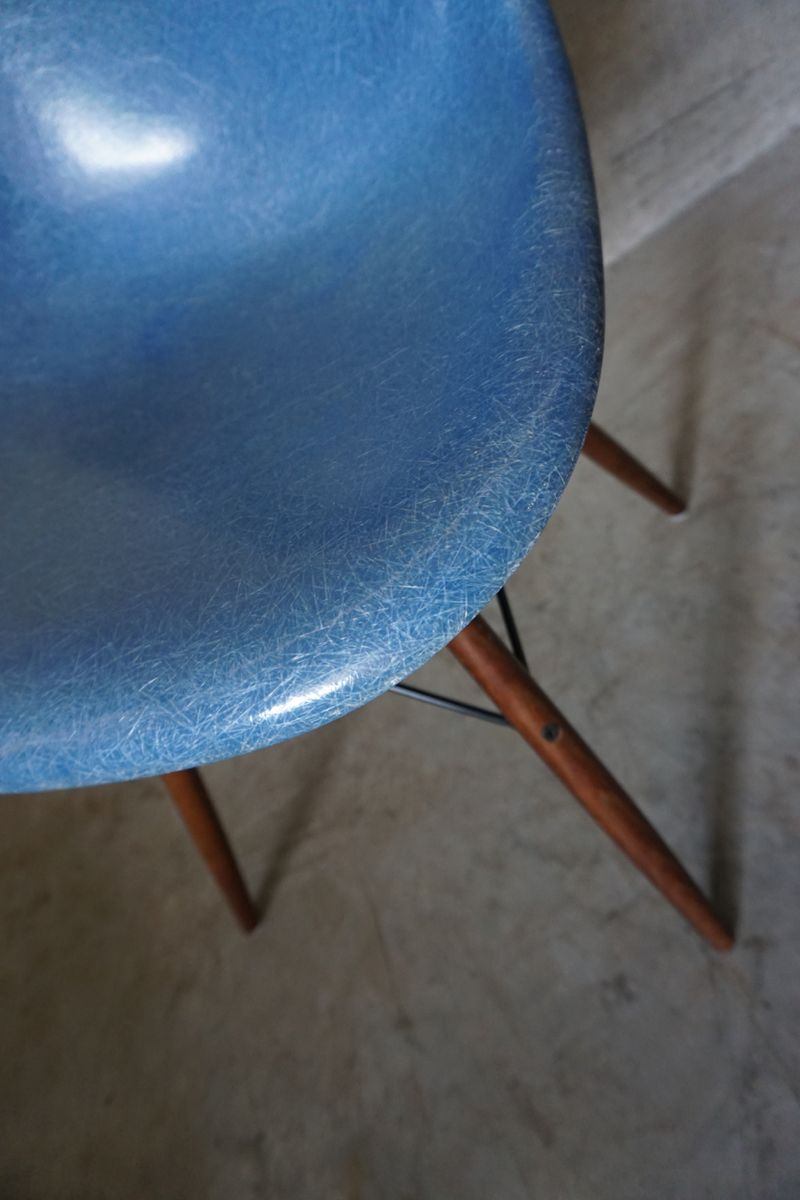 Blue dsw chair by charles amp ray eames 1950s for sale at pamono