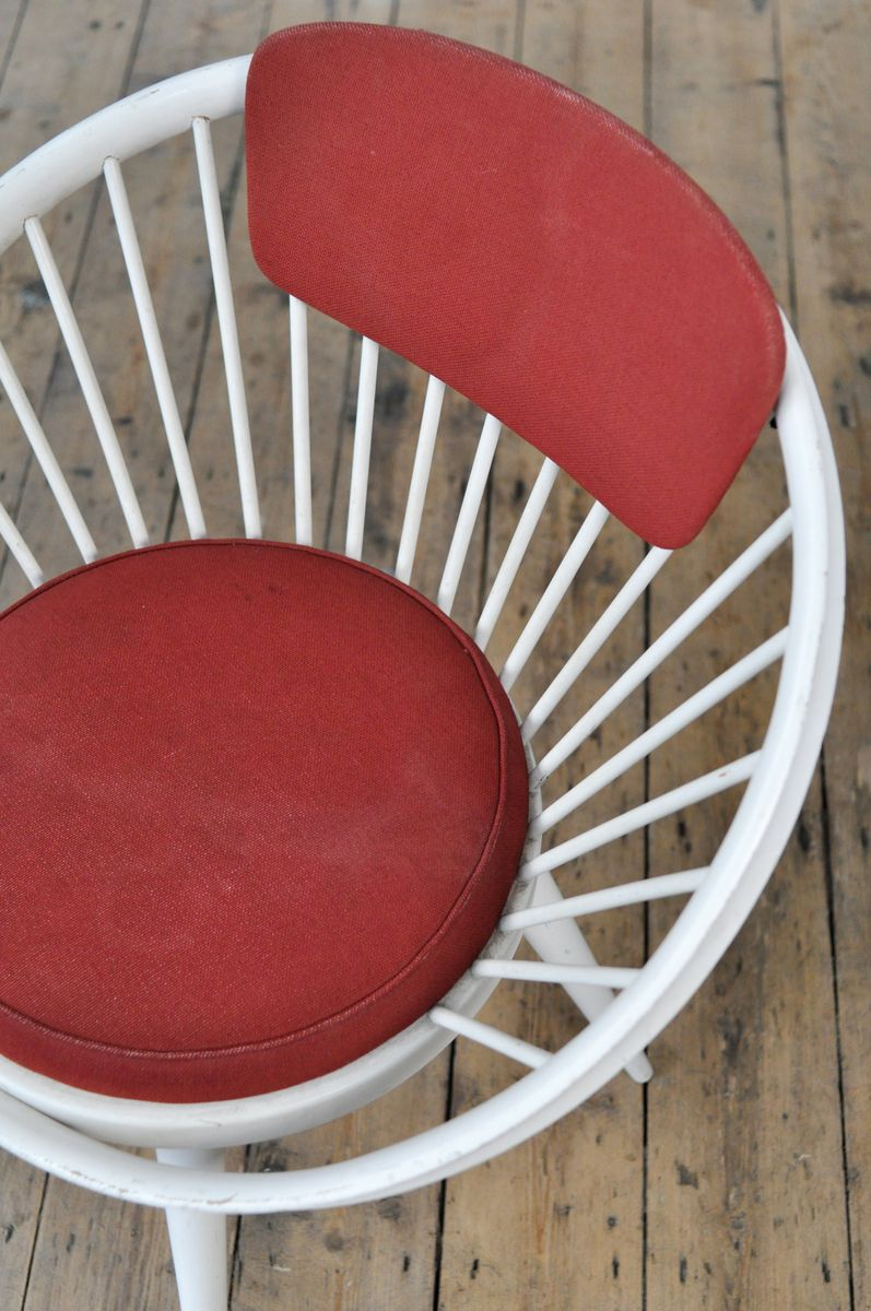Vintage Circle Chair By Yngve Ekström