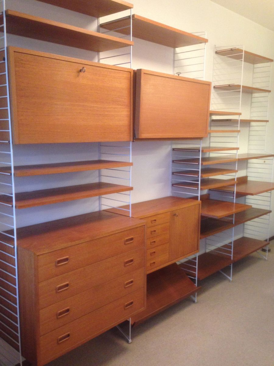 string regalsystem von nisse strinning bei pamono kaufen. Black Bedroom Furniture Sets. Home Design Ideas
