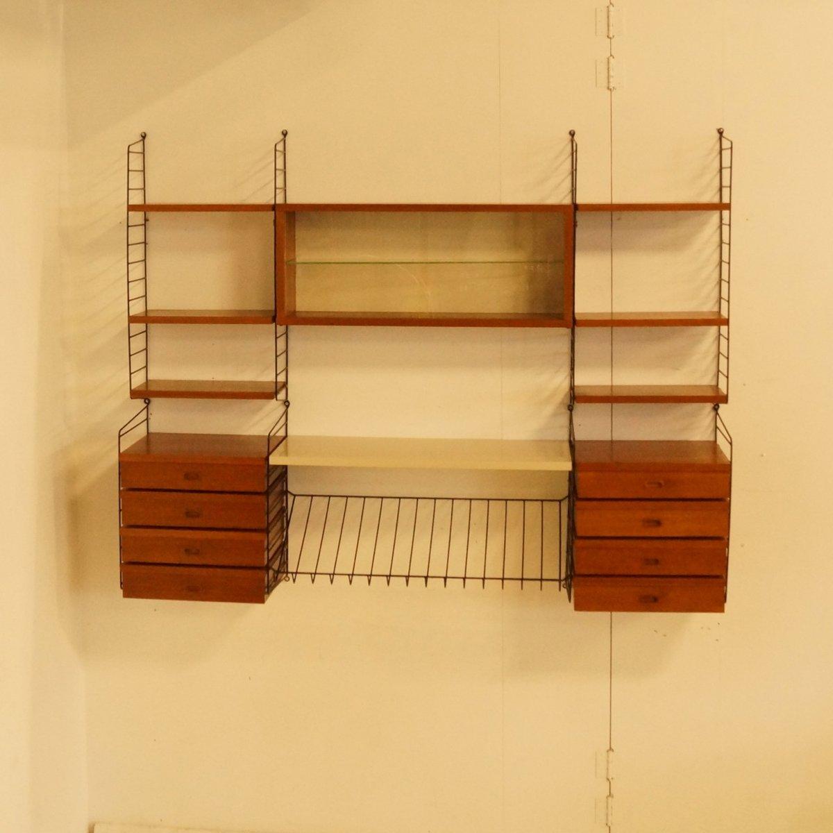 string wandschrank von nisse strinning f r string design bei pamono kaufen. Black Bedroom Furniture Sets. Home Design Ideas