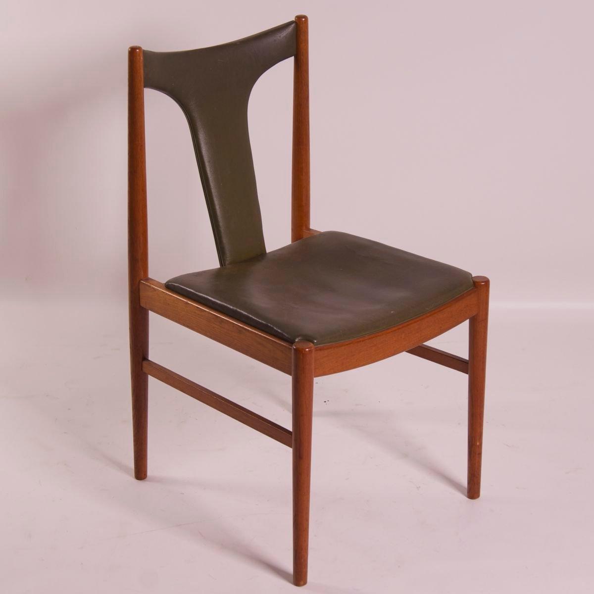 Danish dining chair by arne vodder for sibast 1960s for for Danish dining room chairs
