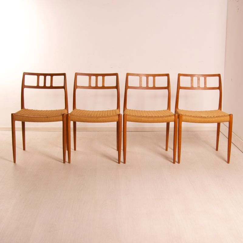 Model 79 Danish Dining Chairs By Niels Otto Moller For JL M Llers M Belfabrik