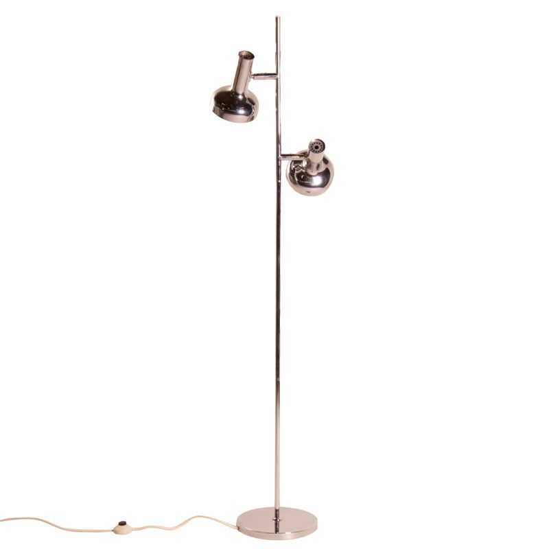 Chrome floor lamp by koch lowy omi 1970s for sale at pamono for 1970s floor lamps